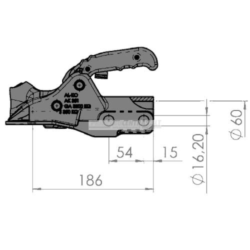 Spyna priekabos sukabinimo AL-KO 3500kg 60mm