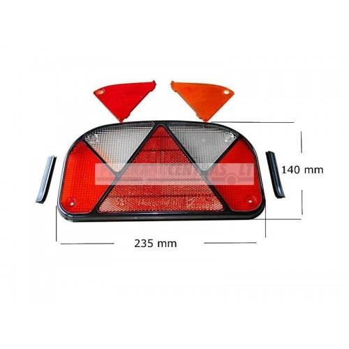 Multipoint II žibinto stiklas kairė+dešinė