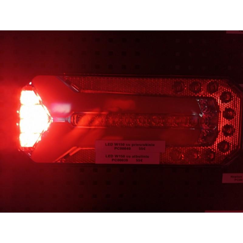 Žibintas LED W150 1148 su rūko žibintu
