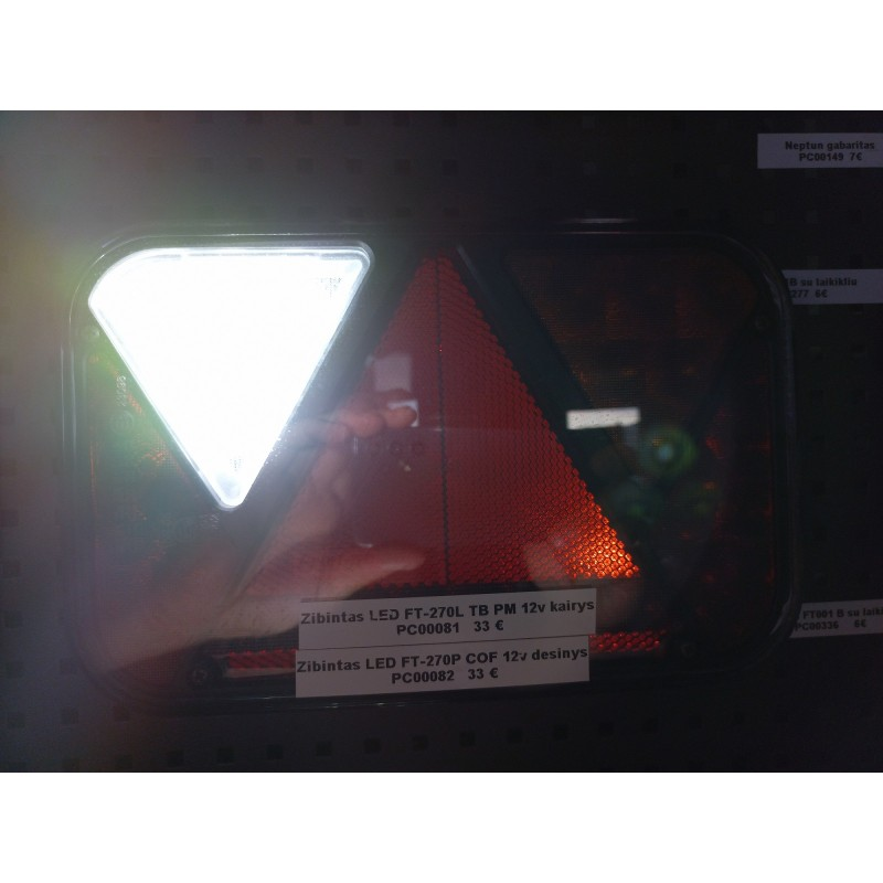 Žibintas LED FT-270 L TB LED PM su laidu 12V kairė