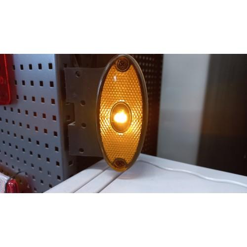 Žibintas oranžinis šoninis ASPOCK FLATPOINT II 0,5m