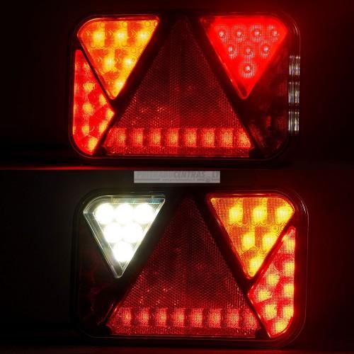Žibintas LED FT-270 P TB .LED COF su nr apšvietimu su atbulinės eigos žibintu 12V, dešinė. Su lizdu